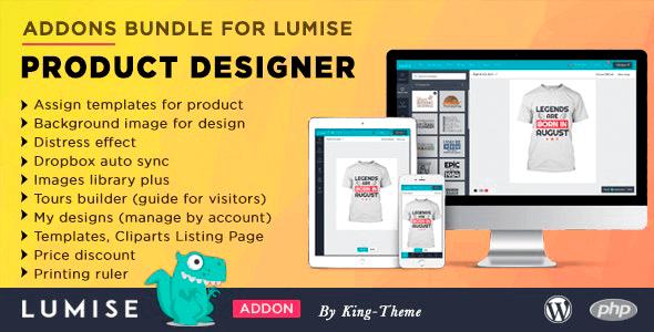 Addons Bundle for Lumise Product Designer 25 Aug, 2020