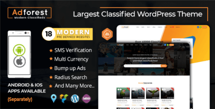 AdForest 4.4.6 NULLED – Classified Ads WordPress Theme