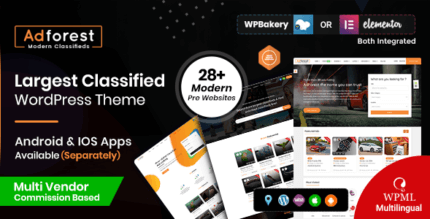 AdForest 4.4.9 NULLED – Classified Ads WordPress Theme
