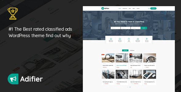 Adifier 3.8.7 – Classified Ads WordPress Theme