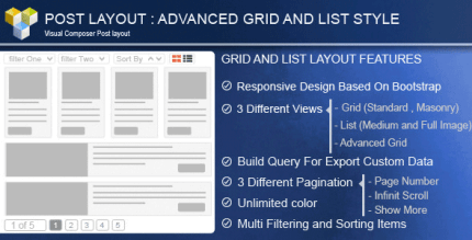 Advance Post Grid List with custom filtering 5.0 – for Visual Composer
