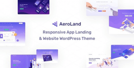AeroLand 1.5.0 – App Landing Software Website WordPress Theme
