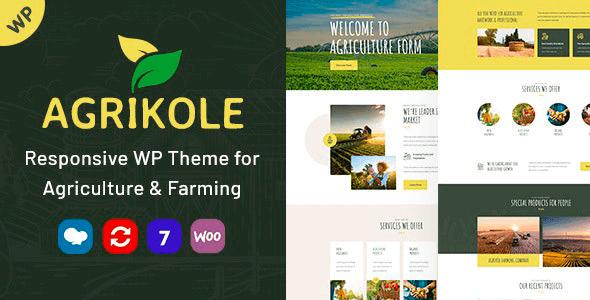 Agrikole 1.7 – Responsive WordPress Theme for Agriculture & Farming