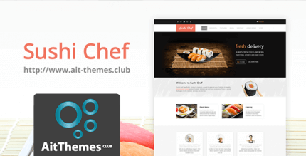 AIT Sushi 2.0.7 – Food Delivery WordPress Theme