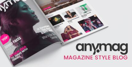 Anymag 2.3 – Magazine Style WordPress Blog