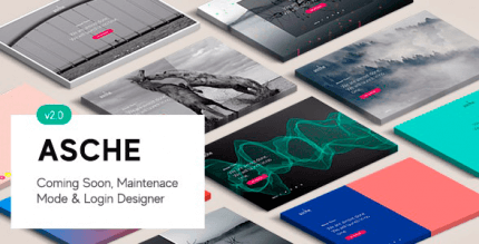 Asche 2.0.3 – Coming Soon, Maintenance Mode, Login Designer