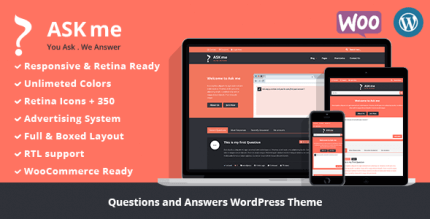 Ask Me 6.4.5 NULLED – Responsive Questions & Answers WordPress