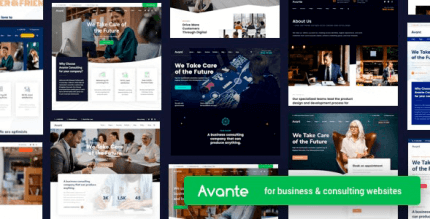 Avante 2.3.5 NULLED – Business Consulting WordPress