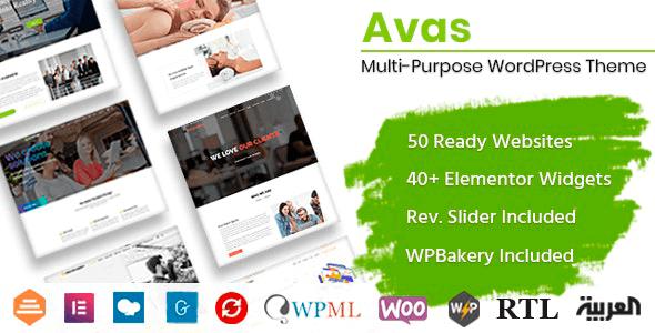Avas 6.3.1 NULLED – Multi-Purpose WordPress Theme