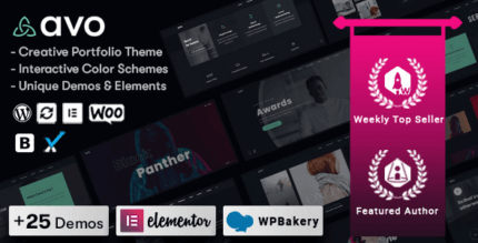 Avo 1.1.3 – Creative Portfolio & Agency WordPress Theme