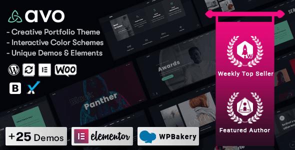 Avo 1.1.6 – Creative Portfolio & Agency WordPress Theme