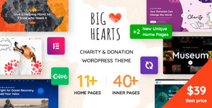 BigHearts 1.0.13 NULLED – Charity & Donation WordPress Theme
