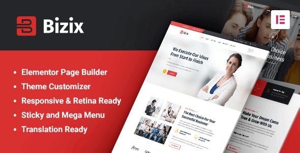 Bizix 2.0.2 – Corporate and Business WordPress Theme