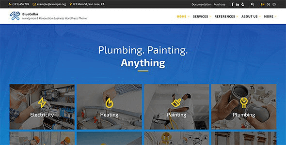Blue Collar 2.6.3 – Handyman WordPress Theme