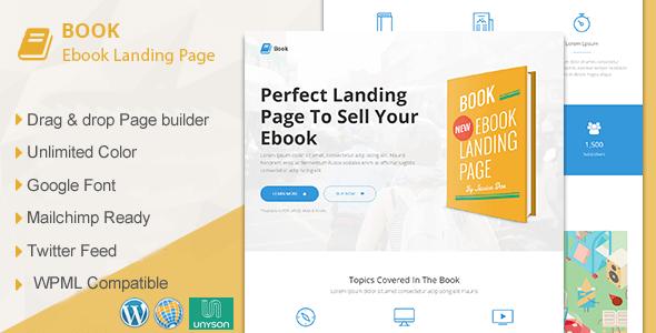 Book 1.9.5 – Responsive Ebook Landing Page WordPress Theme