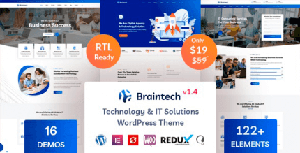 Braintech 1.8 – Technology & IT Solutions WordPress Theme
