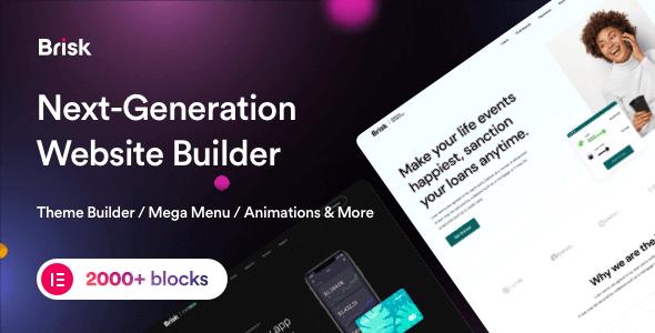 Brisk 2.1.3 – Multi-Purpose Elementor WordPress Theme