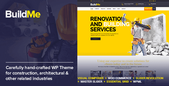 BuildMe 4.8 NULLED – Construction & Architectural WP Theme
