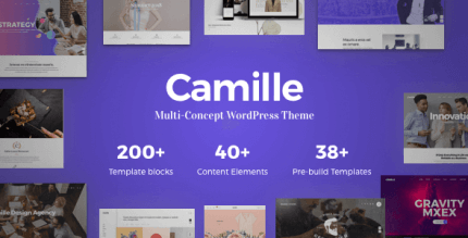 Camille 1.1.3 – Multi-Concept WordPress Theme