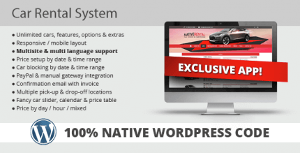 Car Rental System 5.0.6 – Native WordPress Plugin