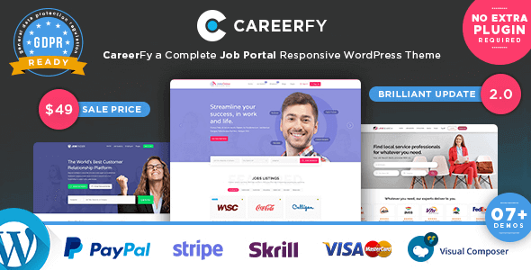 Careerfy 6.1.0 – Job Board WordPress Theme