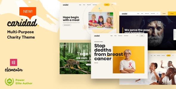 Caridad 2.1 NULLED – Charity WordPress Theme