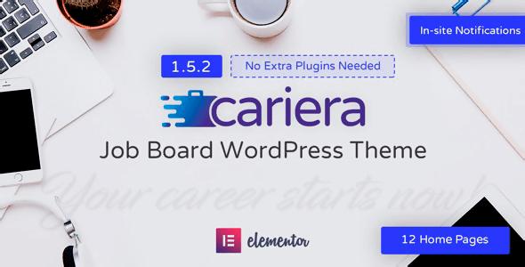 Cariera 1.5.2.2 NULLED – Job Board WordPress Theme