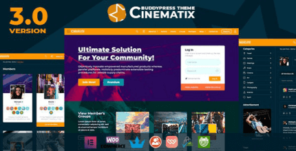 Cinematix 3.1.1 – BuddyPress Theme