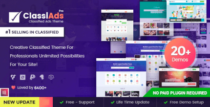Classiads 5.9.3 NULLED – Classified Ads WordPress Theme