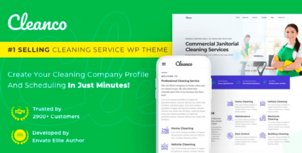 Cleanco 3.2.2 – Cleaning Service Company WordPress Theme