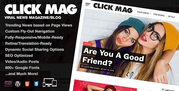 Click Mag 3.4.0 – Viral WordPress News Magazine Blog Theme