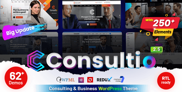 Consultio 2.5.0 – Consulting Business WordPress