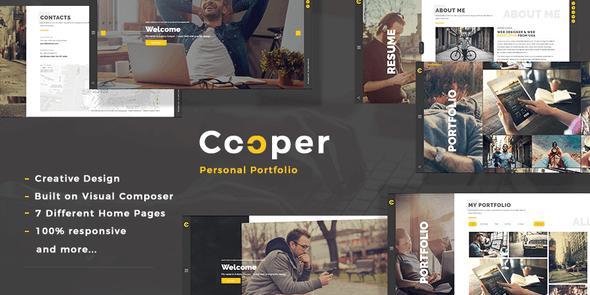 Cooper 4.6 NULLED – Creative Responsive Personal Portfolio WordPress Theme