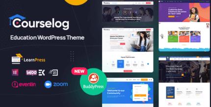 Courselog 1.3.2 – Education WordPress Theme