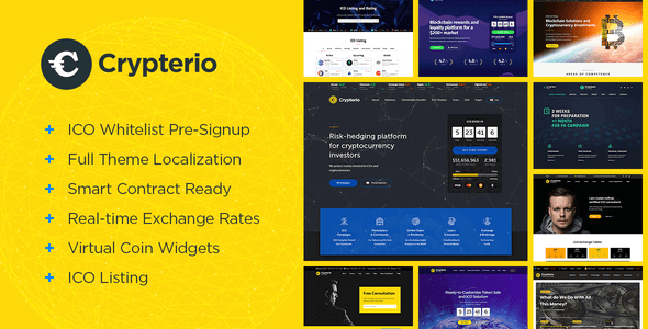 Crypterio 2.4.2 NULLED – Bitcoin ICO and Cryptocurrency WordPress Theme