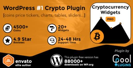 Cryptocurrency Widgets Pro 2.9.1 – WordPress Crypto Plugin