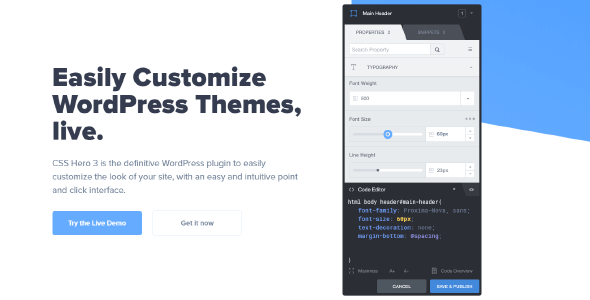 CSS Hero 5.0.6 NULLED – Visual CSS Editor. Customize WordPress Themes Live