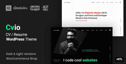 Cvio 3.0.1 – Resume WordPress Theme
