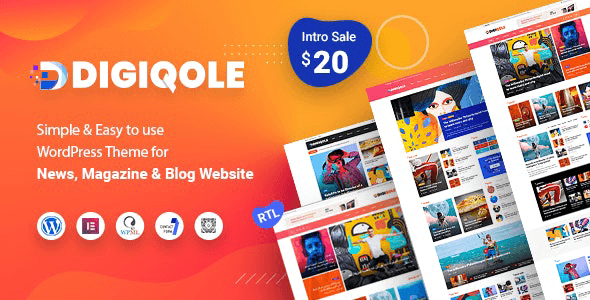 Digiqole 1.5.2 – News Magazine WordPress Theme