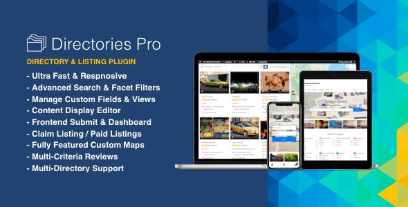 Directories Pro 1.3.70 NULLED – Directories Plugin for WordPress