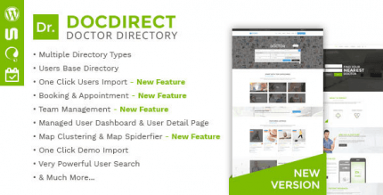 DocDirect 8.1.1 – Responsive Directory WordPress Theme for Doctors and Healthcare Profession