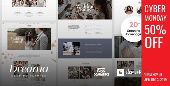 Dreama 1.2.0 – Engagement & Wedding Planner WordPress Theme