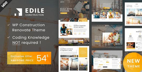 Edile 1.8 – Construction WordPress Theme