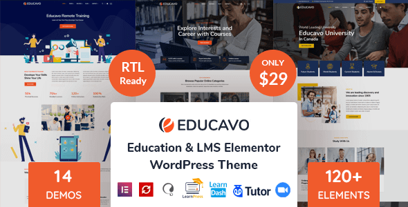 Educavo 2.6 – Online Courses & Education WordPress Theme