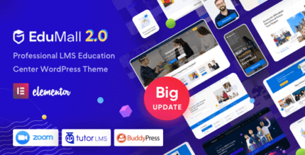 EduMall 2.7.3 – Professional LMS Education Center WordPress Theme