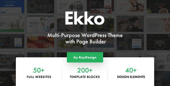 Ekko 2.7 NULLED – Multi-Purpose WordPress Theme with Page Builder
