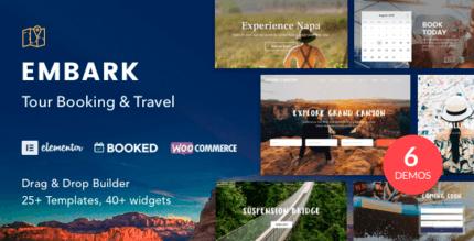 Embark 1.3.7 – Tour Booking & Travel WordPress Theme