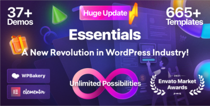 Essentials 2.0.1 NULLED – Multipurpose WordPress Theme