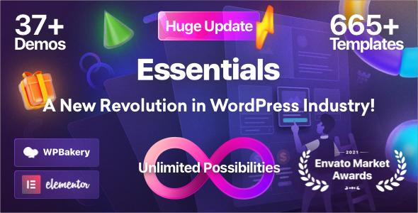 Essentials 2.0.2 NULLED – Multipurpose WordPress Theme