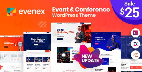 Evenex 1.7 – Event Conference WordPress Theme